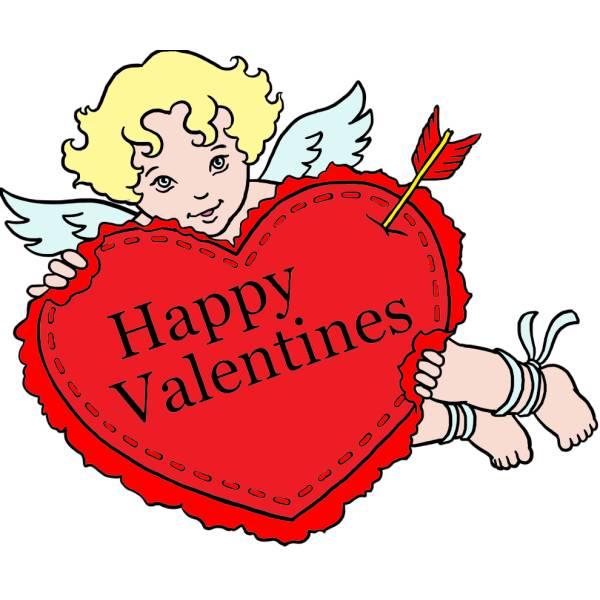 disegno di buon san valentino a colori per bambini