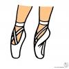 Disegno di Scarpe Ballerina a colori