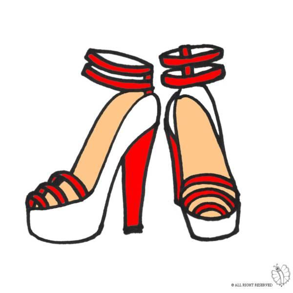 Disegno di Scarpe con Tacco a colori