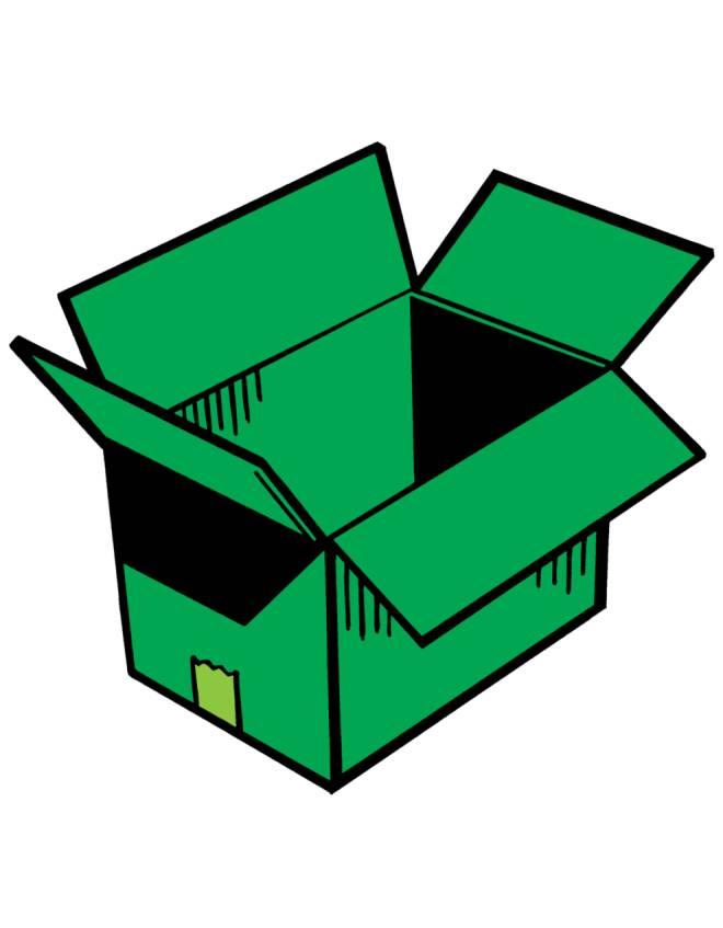 Disegno di scatola a colori per bambini - Casetta di cartone da colorare ...