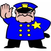 Disegno di Poliziotto a colori