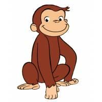 Disegno di Scimmietta George a colori