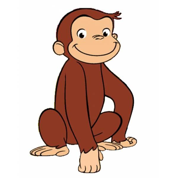 Disegno di scimmietta george a colori per bambini