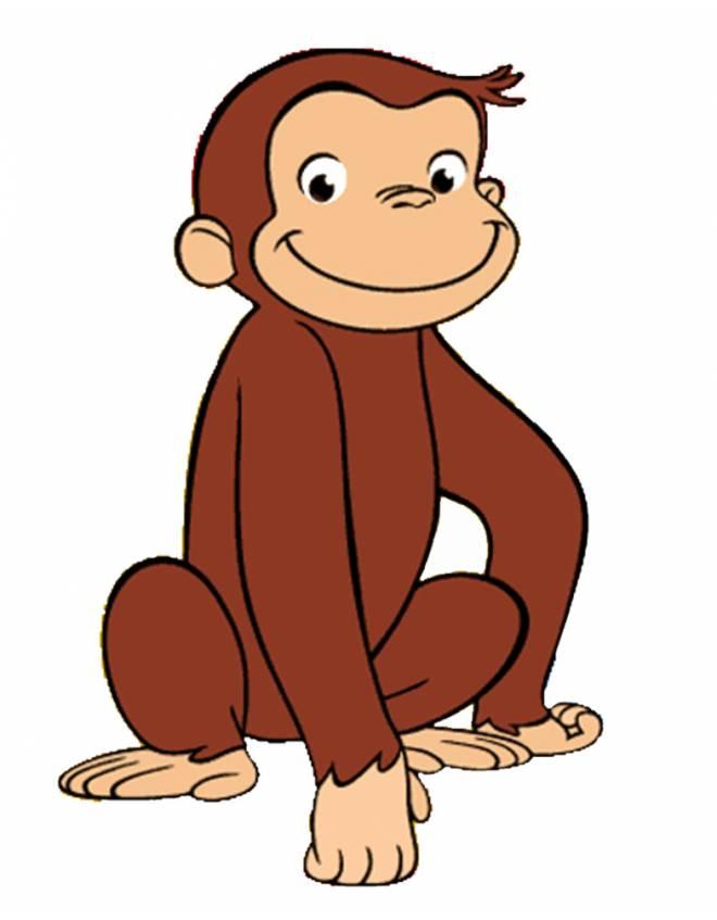 Stampa disegno di scimmietta george a colori - Cartone animato animali da colorare pagine ...