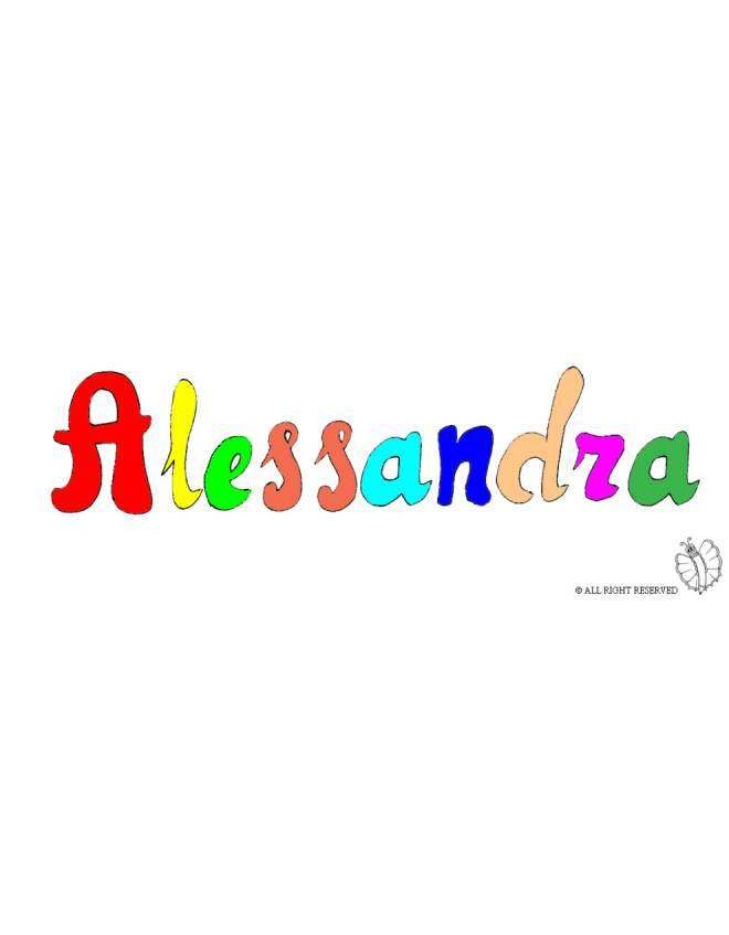 disegno di Alessandra a colori