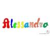 Disegno di Alessandro a colori
