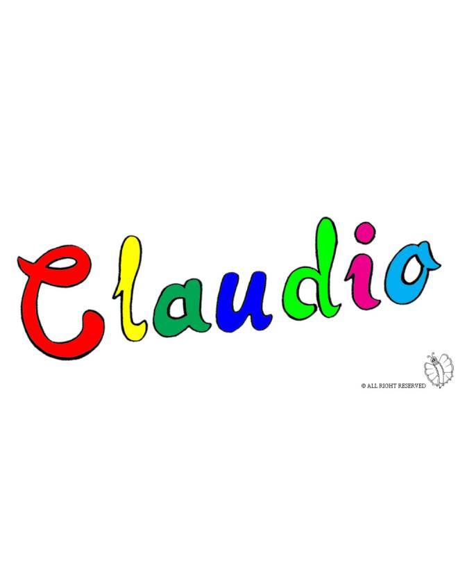 Disegno di claudio a colori per bambini disegnidacolorareonline com
