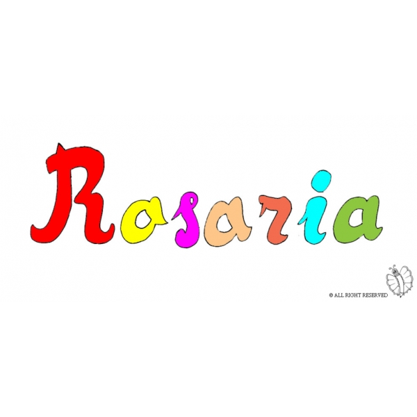 Disegno di Rosaria a colori