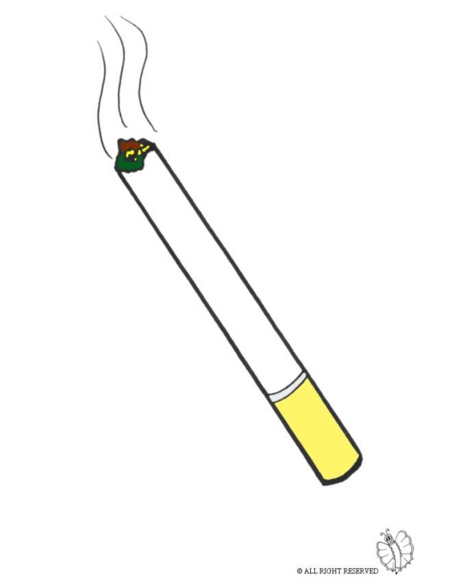Disegno di Sigaretta a colori per bambini - disegnidacolorareonline