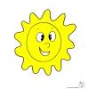 disegno di Sole a colori