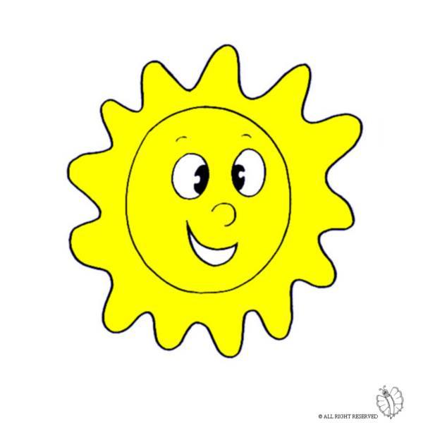 Disegno Di Sole A Colori Per Bambini Disegnidacolorareonline Com