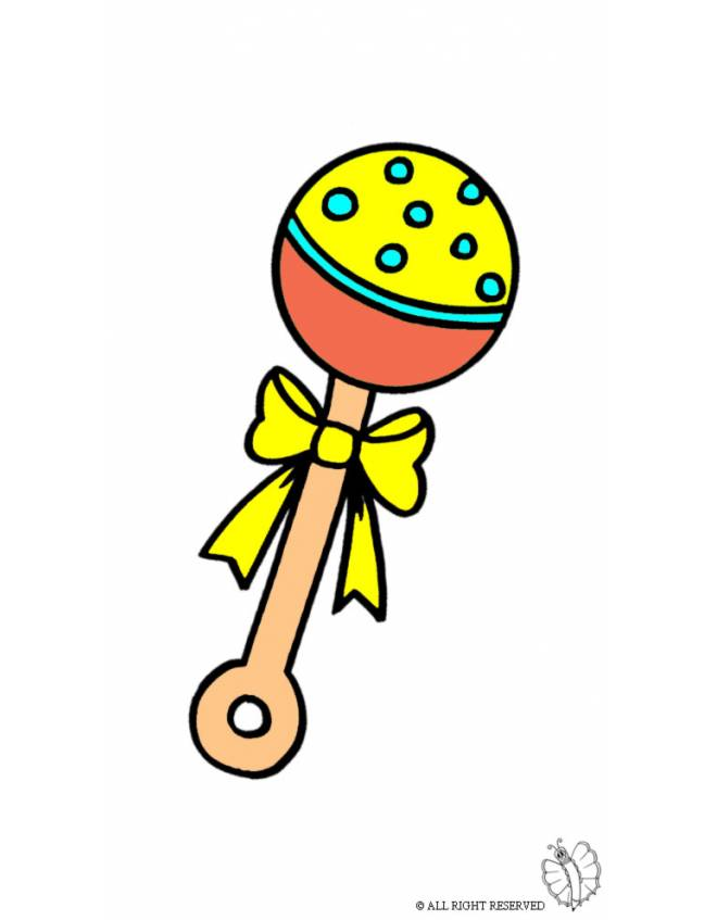 Disegno di sonaglio a colori per bambini - Disegni di coniglietti per bambini ...