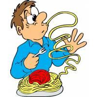 Disegno di Spaghetti al Pomodoro a colori