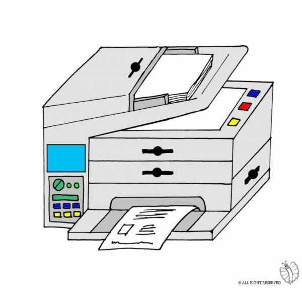 Disegno di Fotocopiatrice a colori