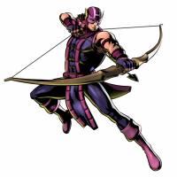 Disegno di Hawkeye - The Avengers a colori