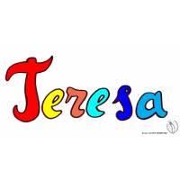 Disegno di Teresa a colori