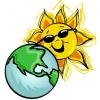 Disegno di La Terra e Il Sole a colori