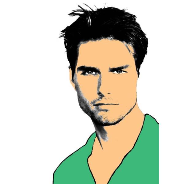 Disegno di Tom Cruise a colori