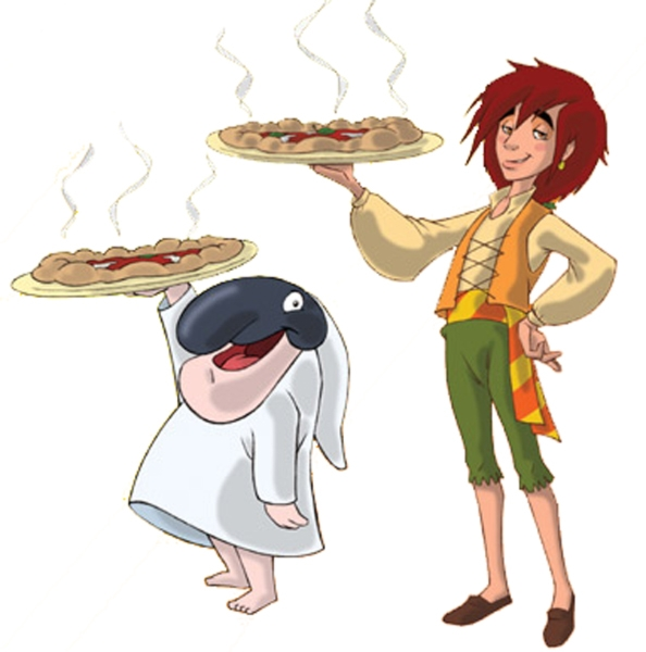 Disegno Di Totò Sapore E La Pizza A Colori Per Bambini