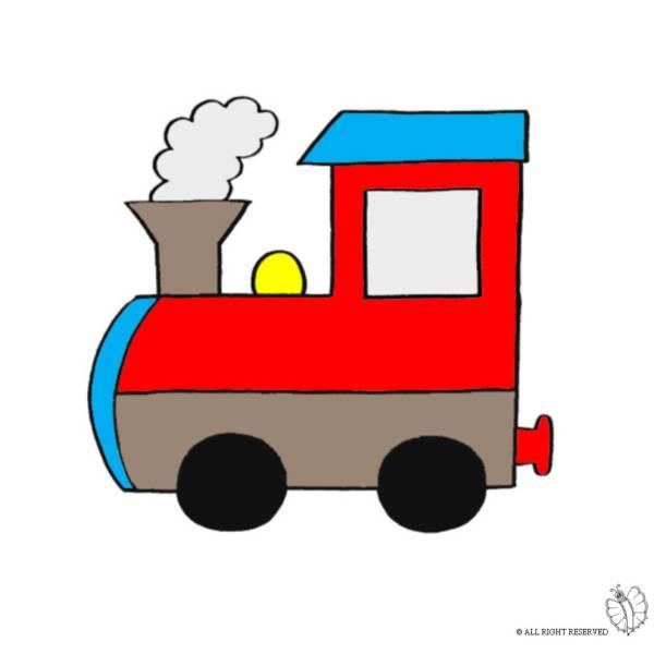 Disegno di Treno a Vapore a colori