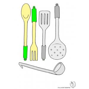 Disegno di cucinare a colori per bambini gratis for Cucinare per 300 persone