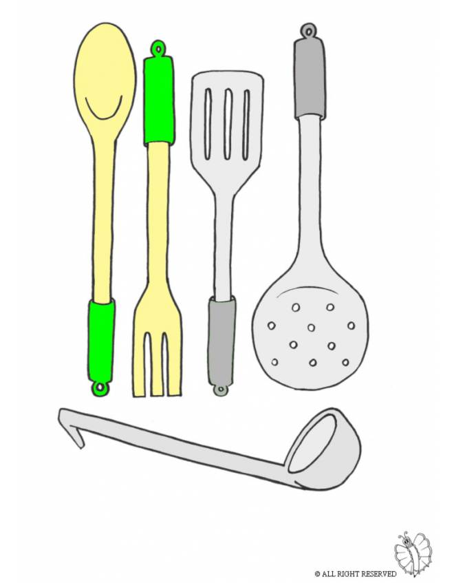 Disegno Di Cucinare A Colori Per Bambini Disegnidacolorareonline Com