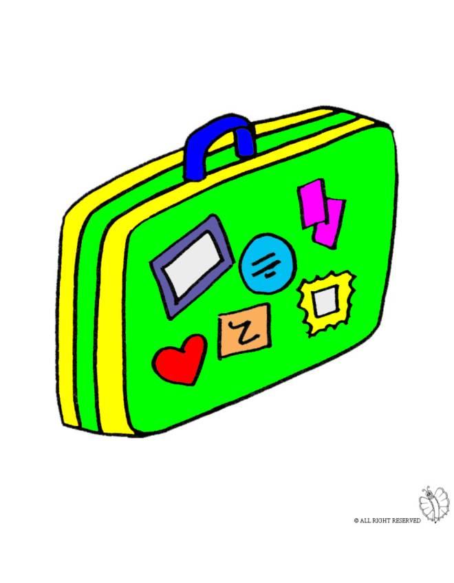 disegno di Valigia a colori