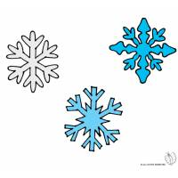 disegno di Fiocchi di Neve a colori