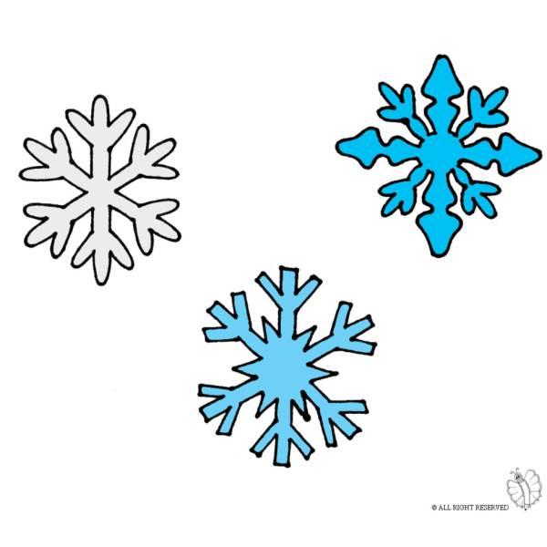 Disegno Di Fiocchi Di Neve A Colori Per Bambini