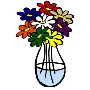 Disegno di Vaso con Acqua a colori