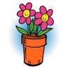 Disegno di Vaso di Fiori a colori