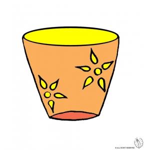 Disegno di vaso a colori per bambini gratis for Vaso di fiori disegno