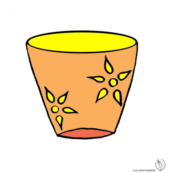 Disegno di vaso a colori per bambini for Vaso di fiori disegno