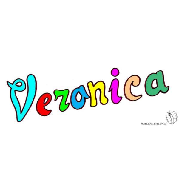 Disegno di Veronica a colori