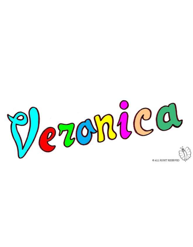 Disegno di veronica a colori per bambini disegnidacolorareonline com