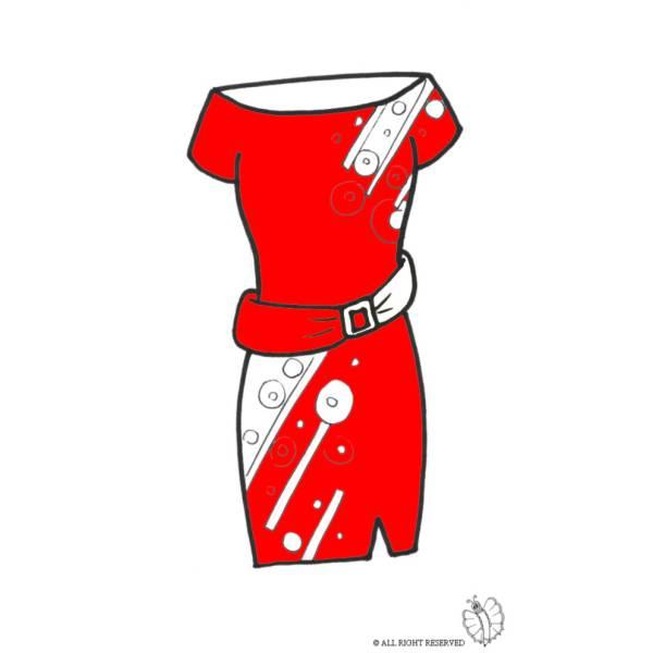 Disegno di Vestito con Cintura a colori