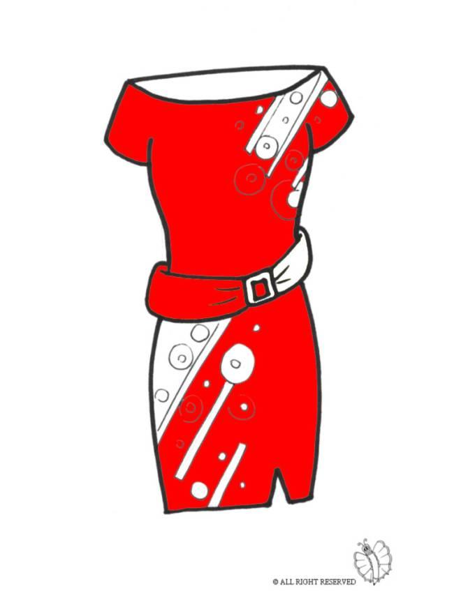 Estremamente Disegno di Vestito con Cintura a colori per bambini  AE26