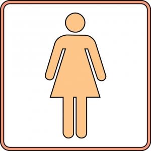 Disegno di wc donna a colori per bambini gratis for Disegno bagno online