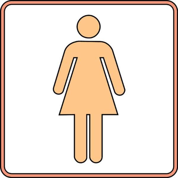 Disegno di wc donna a colori per bambini - Donne scopate in bagno ...