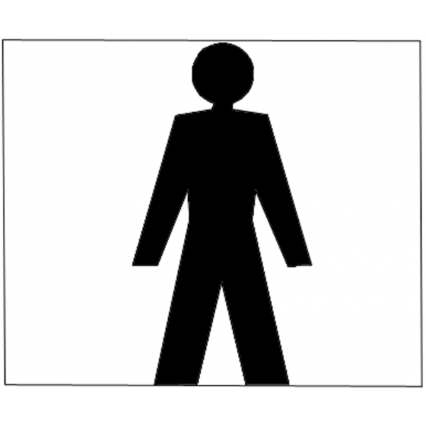 Disegno di wc uomo a colori per bambini