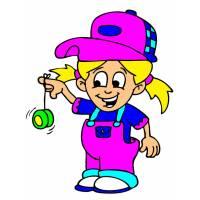 Disegno di Bambina con Yo Yo a colori