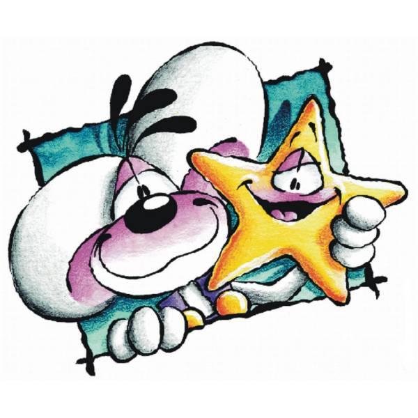 Disegno di Diddl con Stella a colori