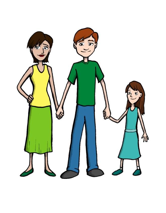disegno di Famiglia a colori