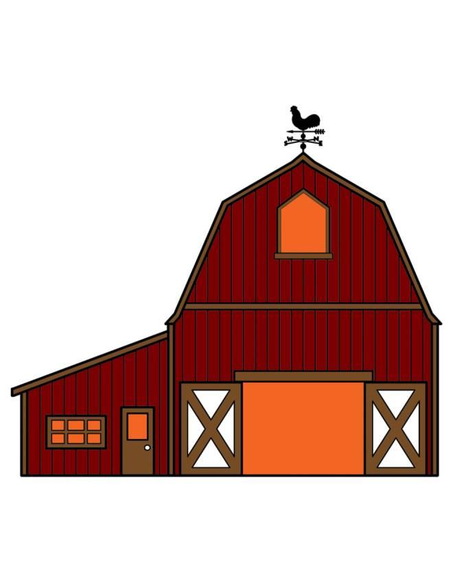 Disegno di fattoria a colori per bambini for Disegno della casa