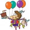 Disegno di Festa con Palloncini e Torta a colori