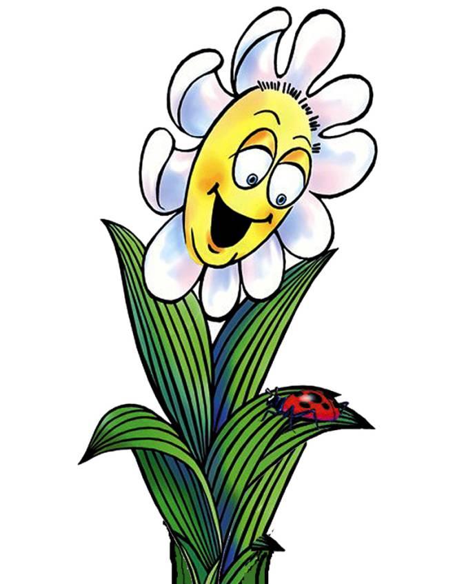 disegno di Il Fiore e la Coccinella a colori