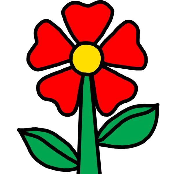 Disegno di Fiorellino a colori