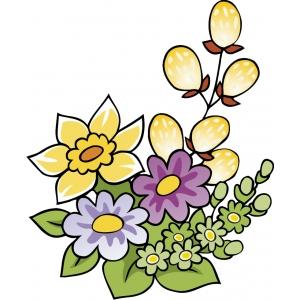 Disegno di fiori di primavera a colori per bambini gratis for Paesaggi facili da disegnare