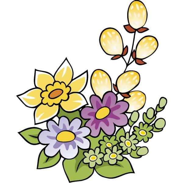 Disegno di fiori di primavera a colori per bambini for Fiori semplici