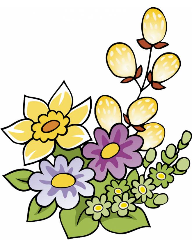 disegno di Fiori di Primavera a colori